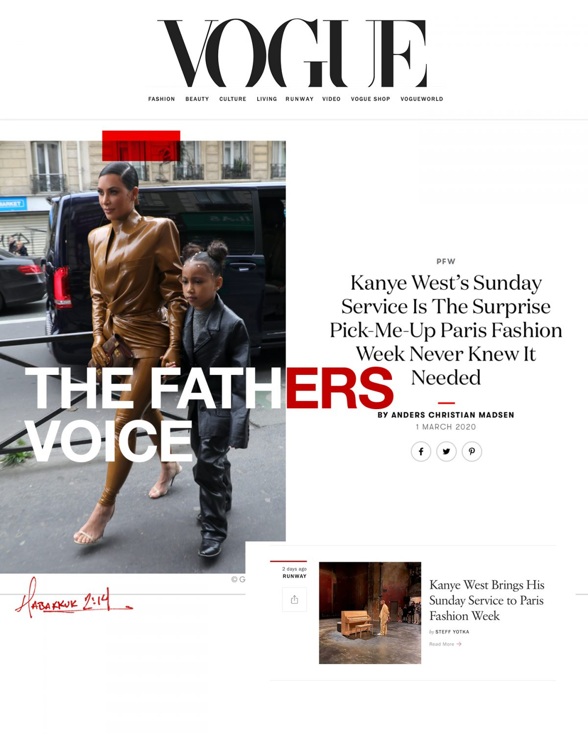 The Fathers Voice in Vogue Magazine